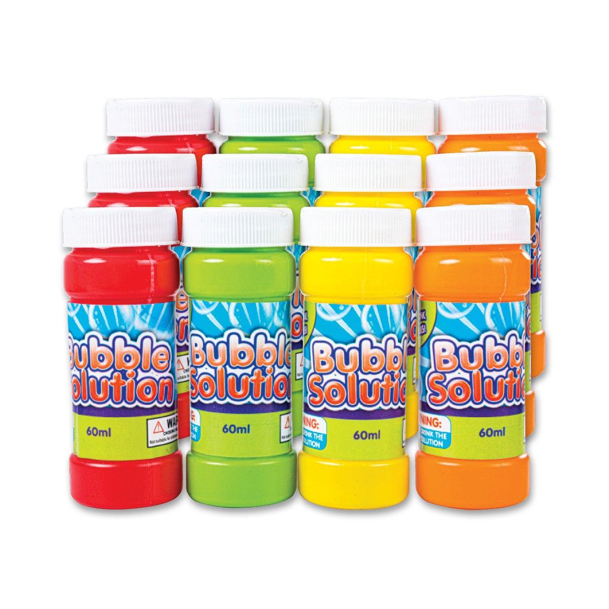 12PK Bubble & Wand Mega Value 60ML Non-Toxic Indoor/Outdoor Play Wedding Party