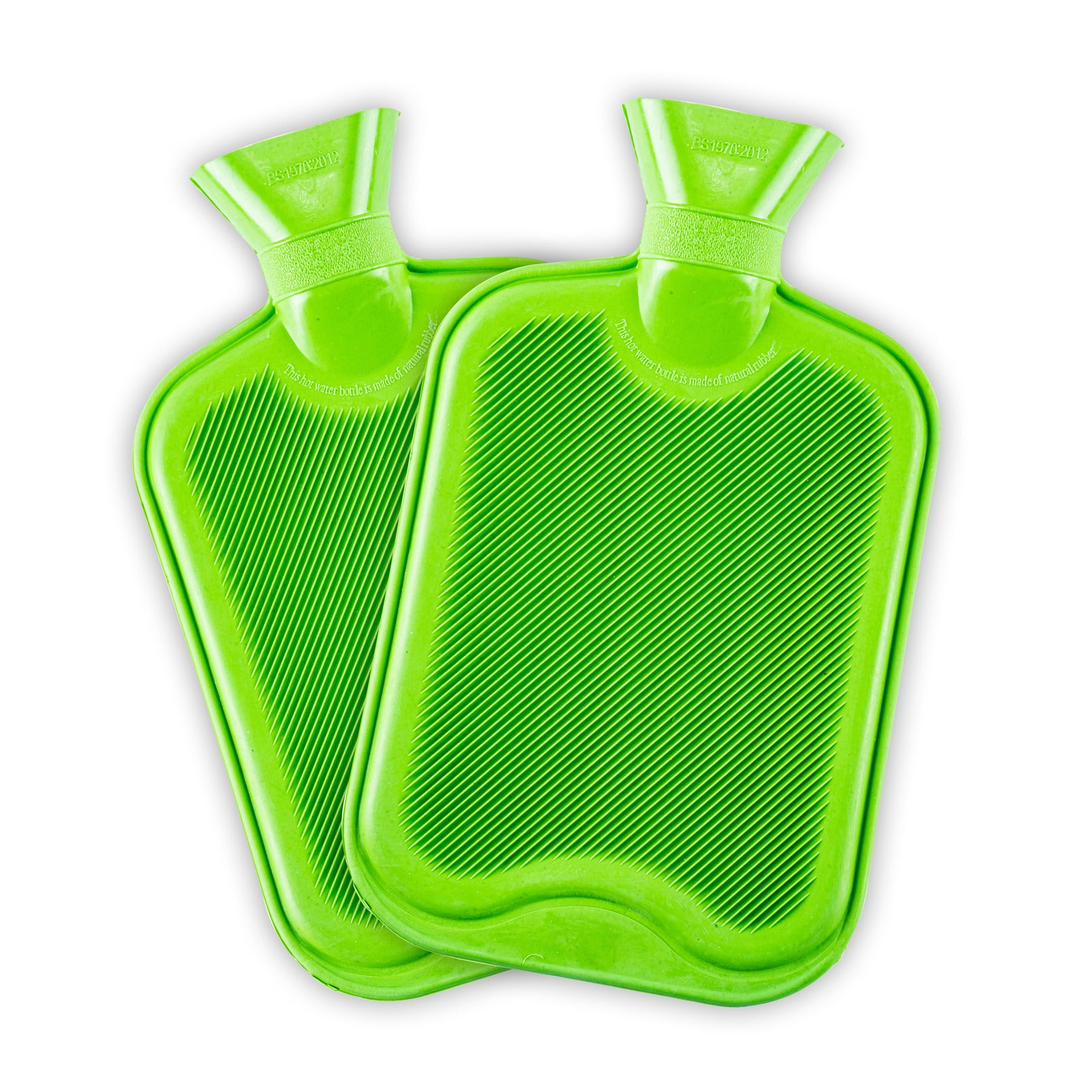 Heat Control® 2PK Hot Water Bottle Bright Colours Instant Warmth Aches 1.7L