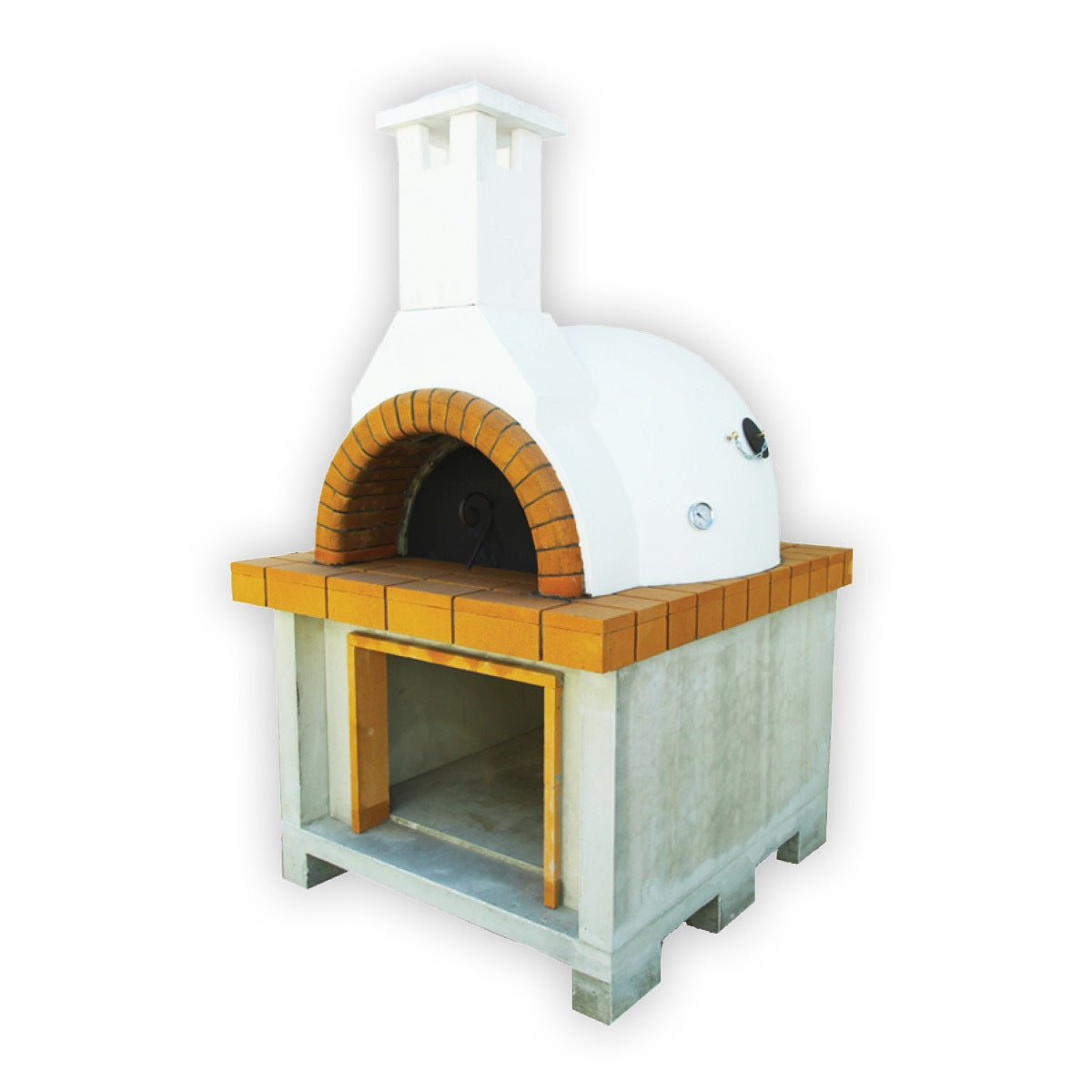 Deluxe Tuscan Wood Fire Pizza Oven Thermal Dome Light Brick