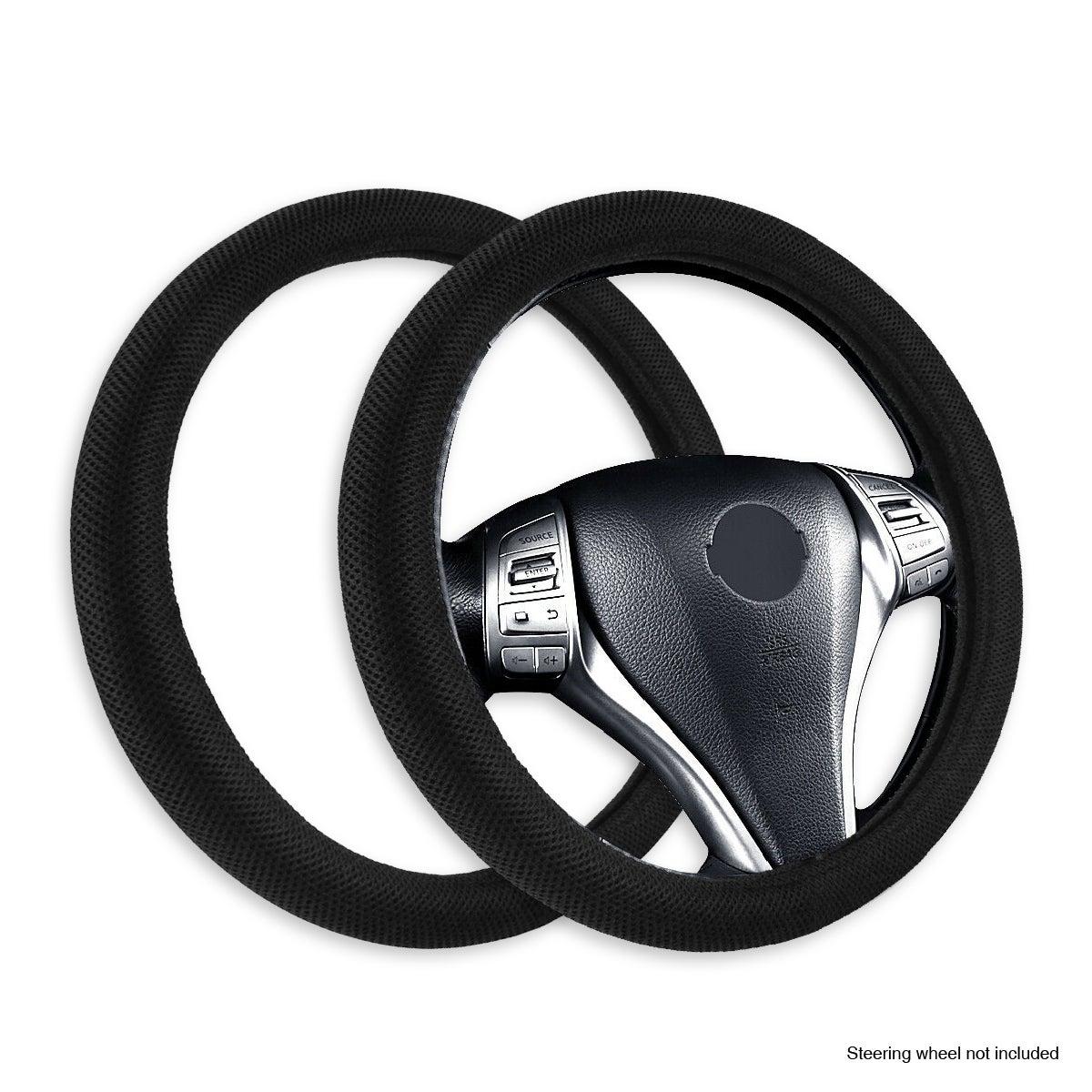 Handy Automotive® 2PK Steering Wheel Cover Mesh Design Universal Fit Anti Slip
