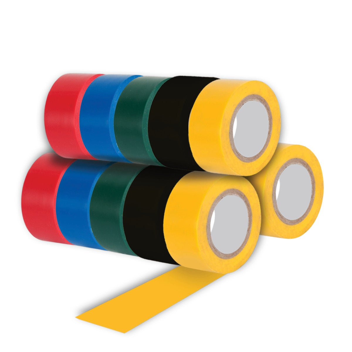 Handy Hardware®60PCE Electrical Tape Multi Colours Durable Strong 19mm x 3m