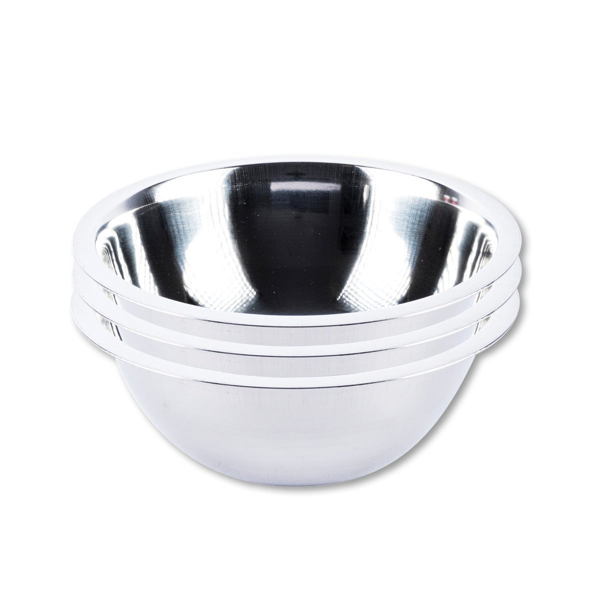 Home Master® 3PCE Mixing Bowls Stainless Steel 20CM Dishwasher Safe Lightweight