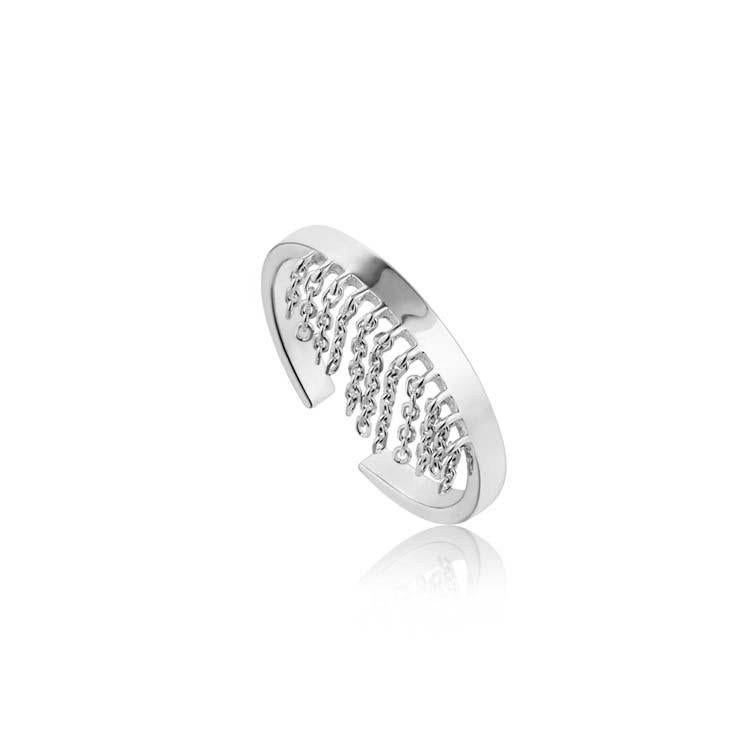 Ania Haie Fringe Fall Ring - Silver