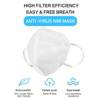 KN95 Face Mask 10Pcs/Pack Disposable Mouth Mask Unisex
