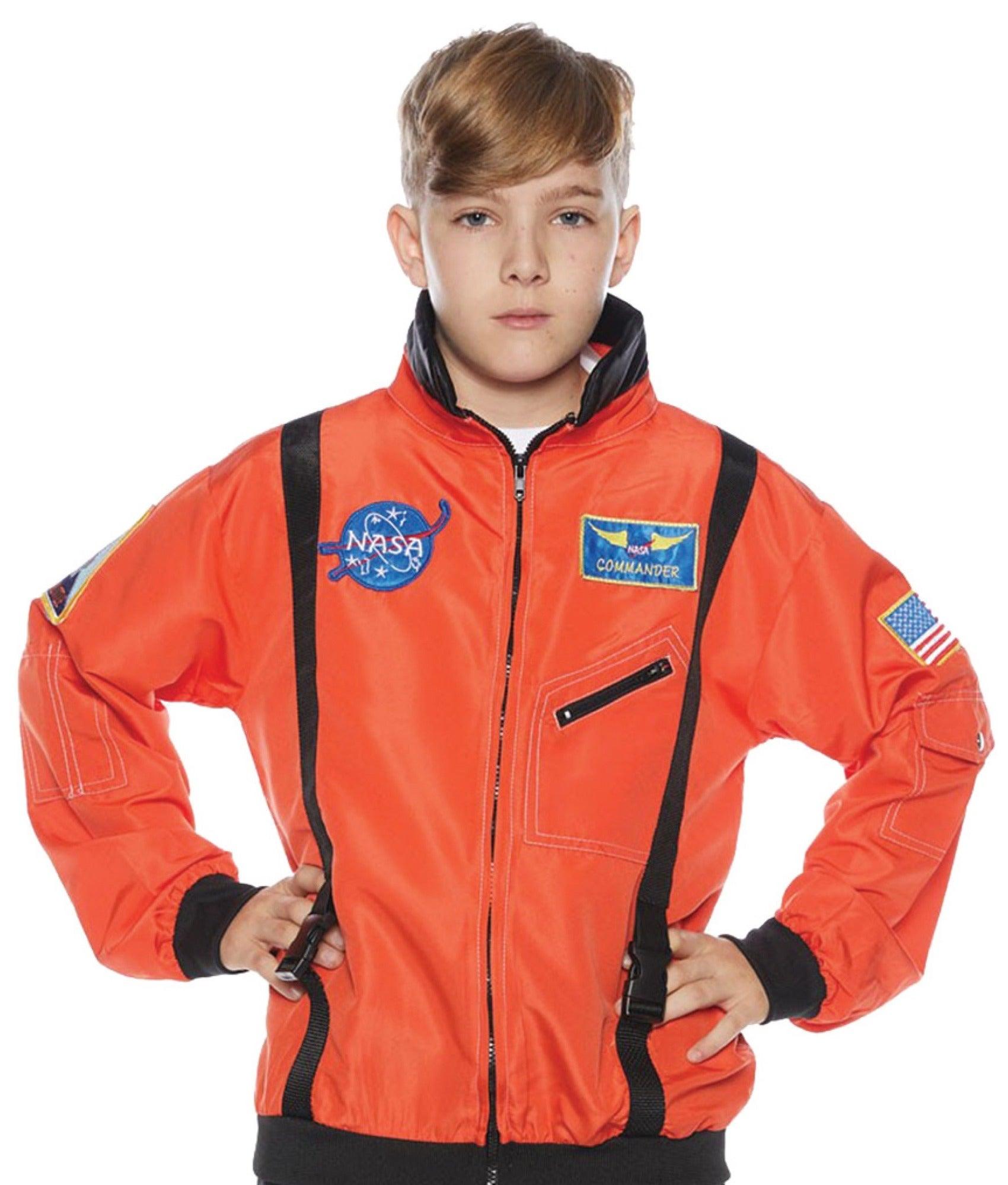 Hobbypos Astronaut NASA Spaceman Space Orange Uniform Book Week Boys Costume Jacket