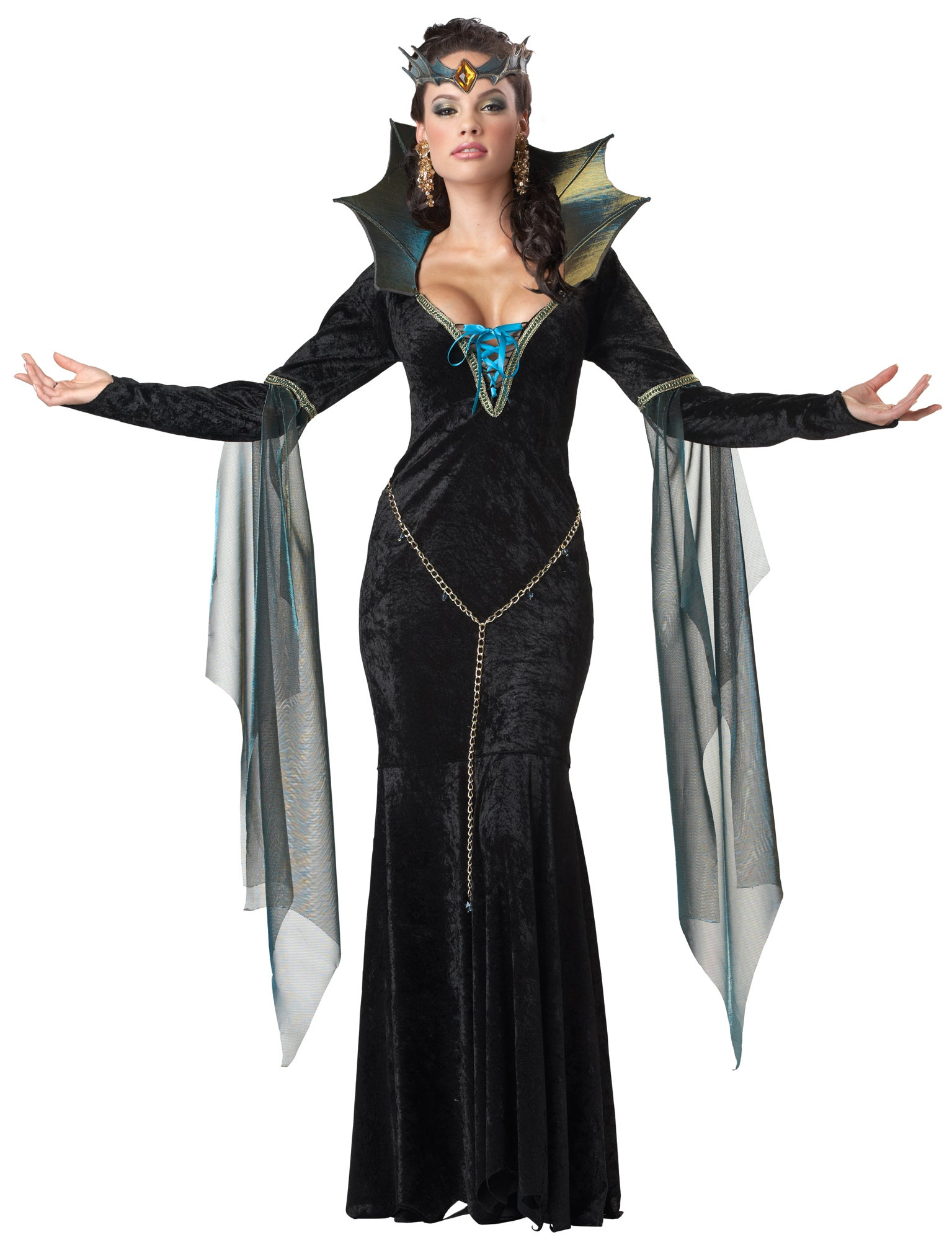 Hobbypos Evil Sorceress Wicked Witch Enchantress Fairytale Story Book Womens Costume