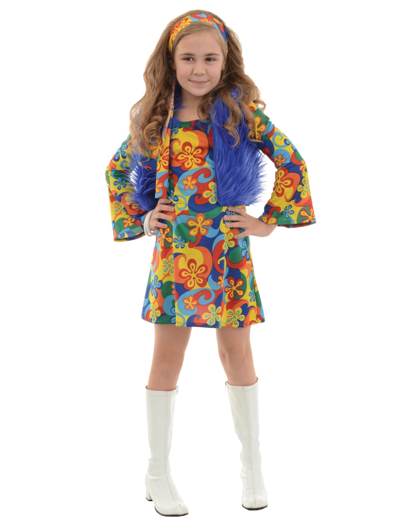 Hobbypos Far Out Hippie Hippy 1970s Flower Power Peace Retro Book Week Girls Costume