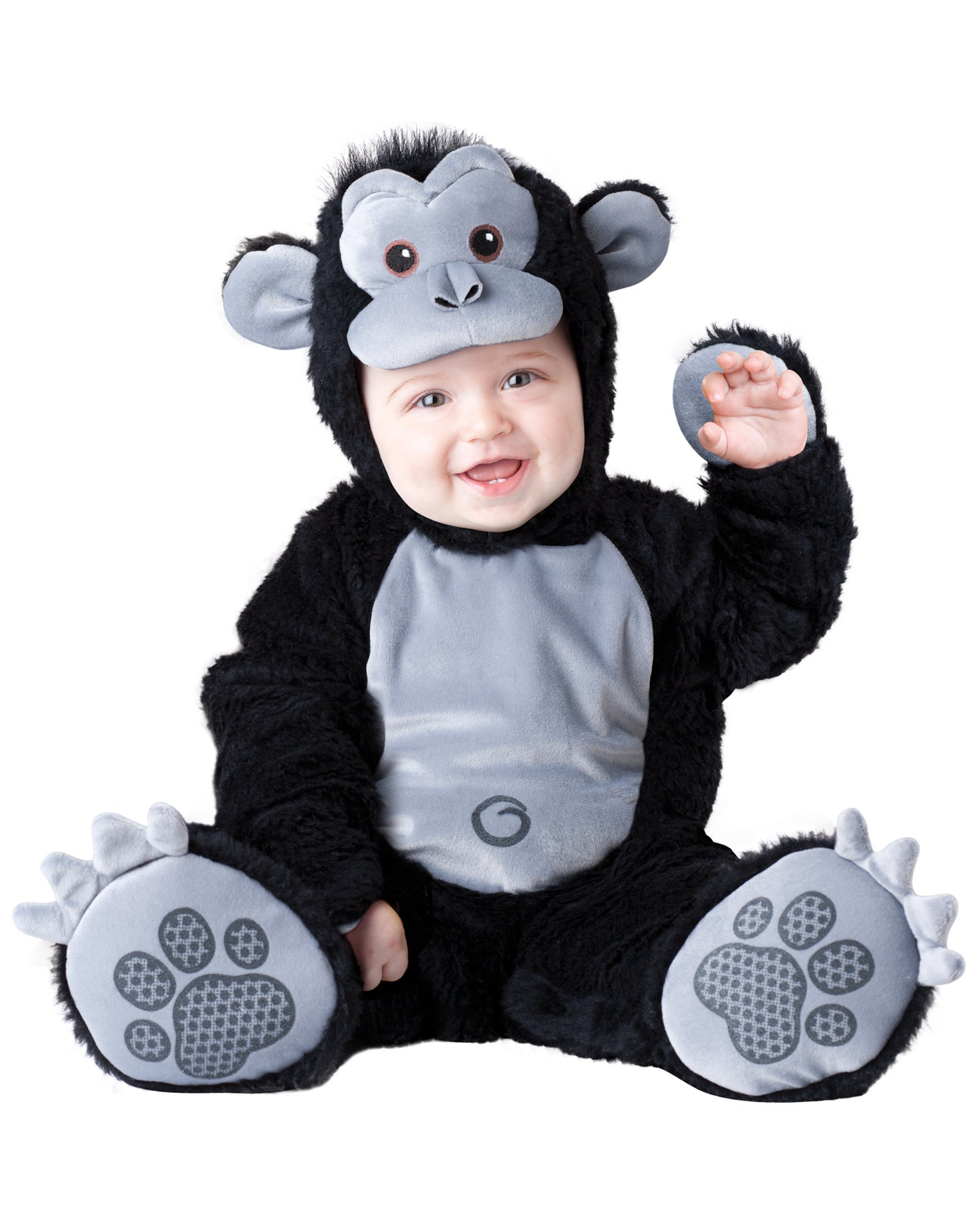 Hobbypos Goofy Gorilla Monkey Ape Animal Deluxe Toddler Boys Costume