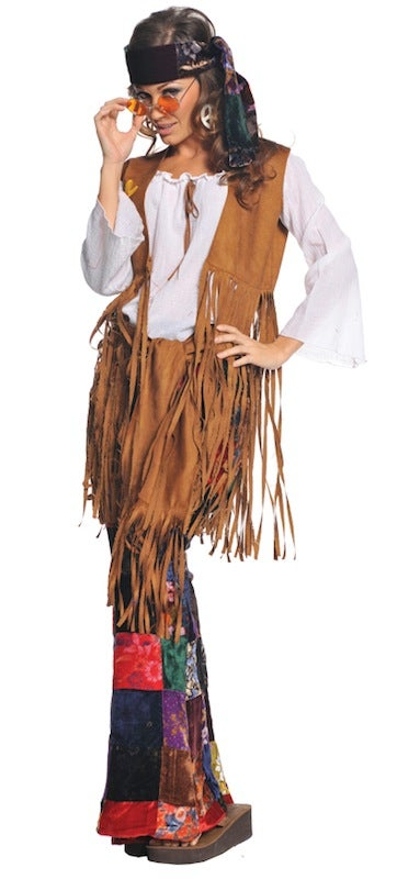 Hobbypos Peace Out 60s 70s Hippie Hippy Woodstock Women Costume