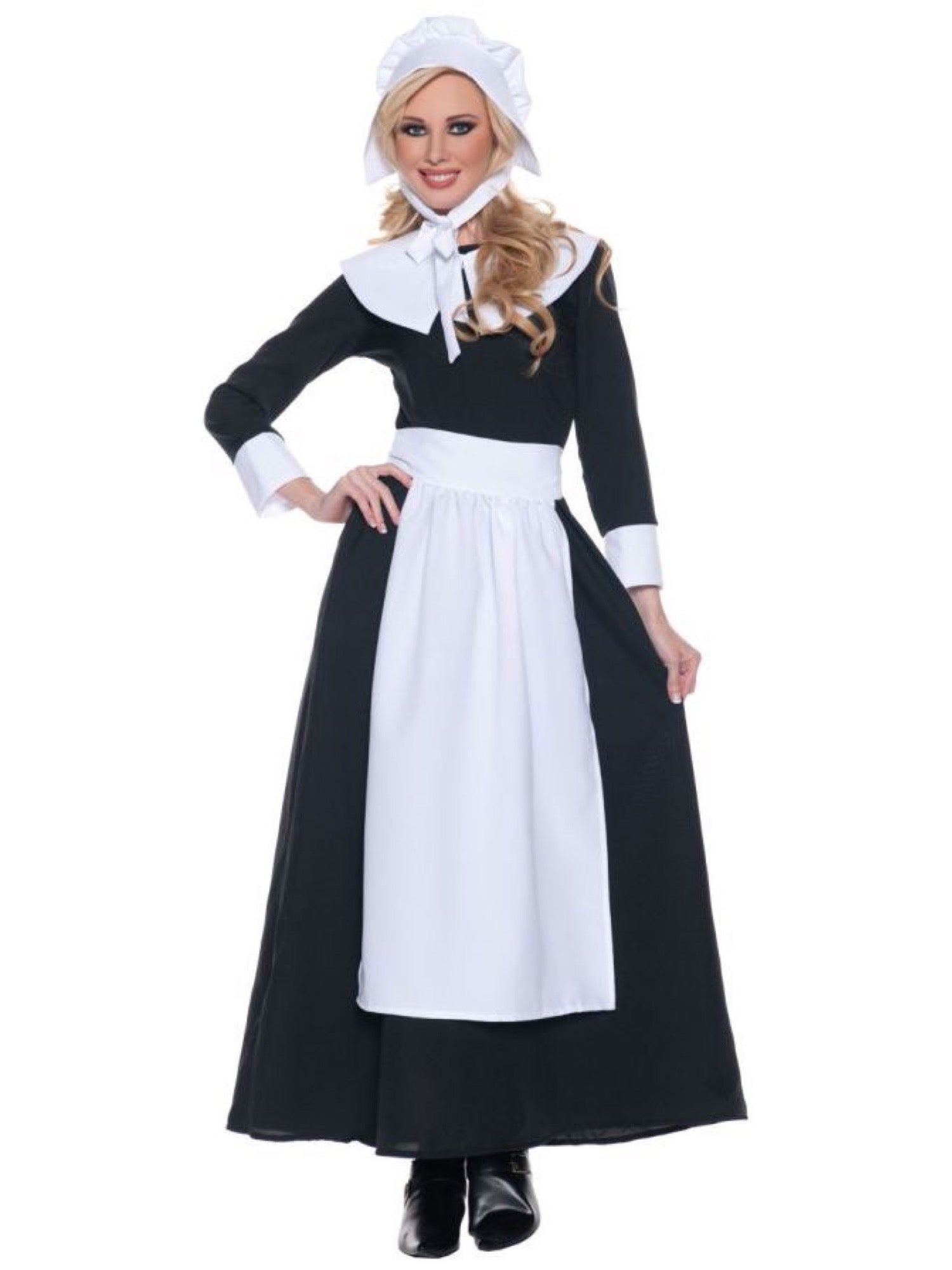 Hobbypos Pilgrim Colonial Victoria Thanksgiving Olden Day Historical Adult Womens Costume