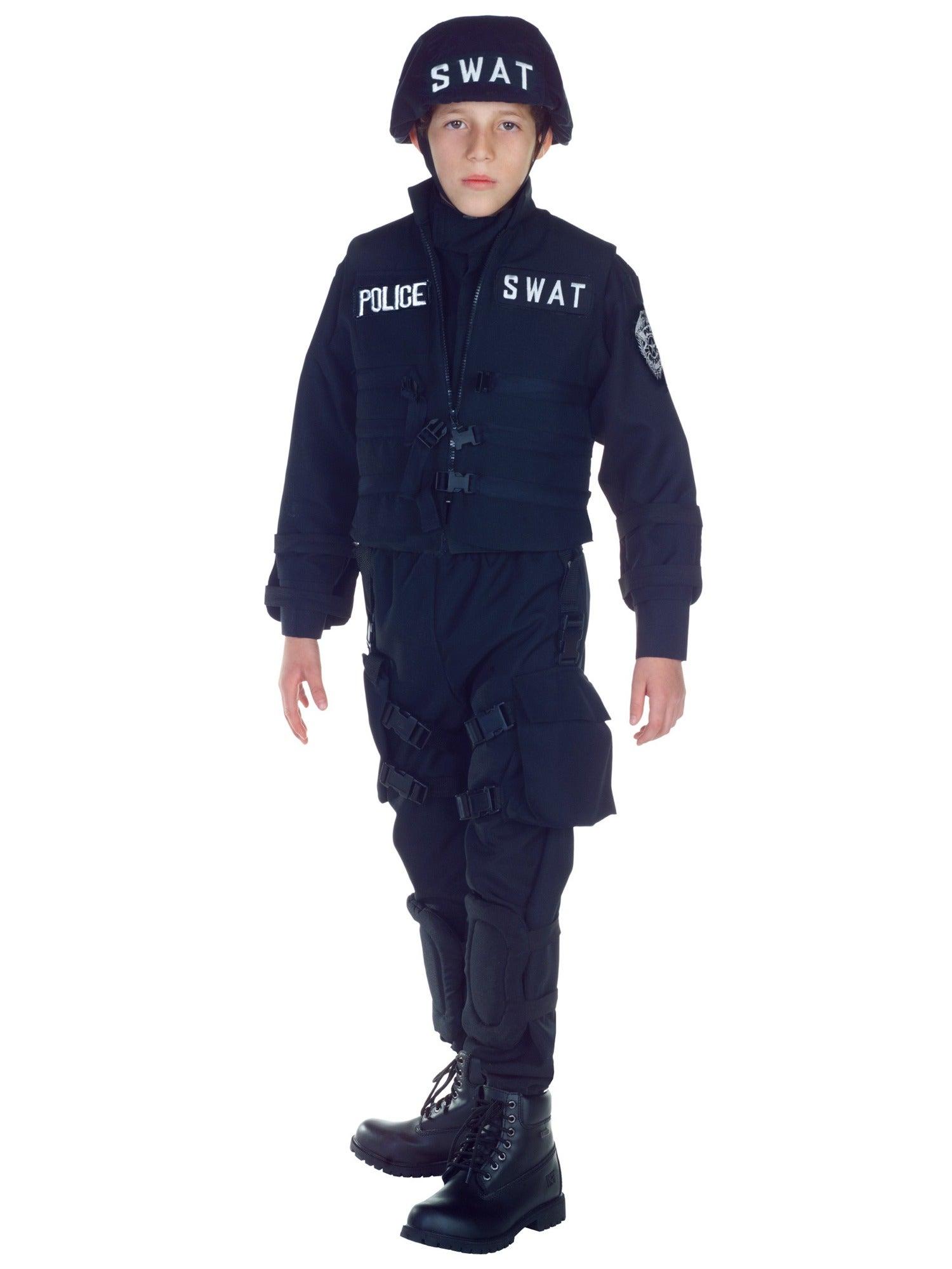 Hobbypos SWAT S.W.A.T. Military Police Cop Commander FBI Book Week Boys Costume