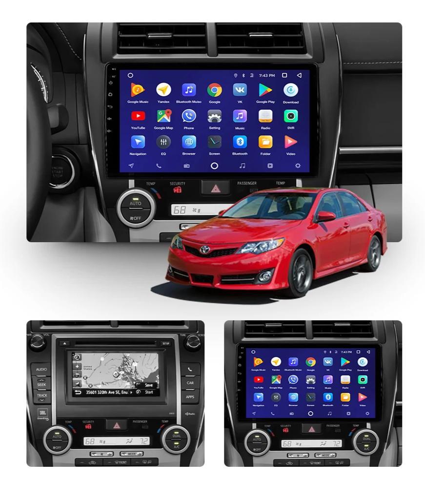 "Car Dealz 10.2"" Android 8.1 Toyota Camry 2012-2017 w CAM GPS Bluetooth Car Player Navigation Radio Stereo DVD Head Unit In Dash Plus OEM Fascia"