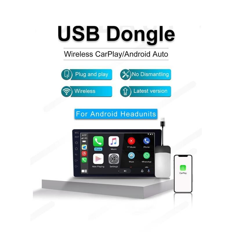 Car Dealz Bluetooth Apple CarPlay Dongle Wireless Android Auto Android adapter tool