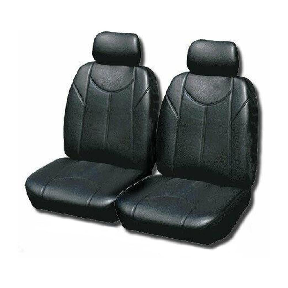 Leather Look Car Seat Covers For Toyota Hiace 2005-2020 - Grey