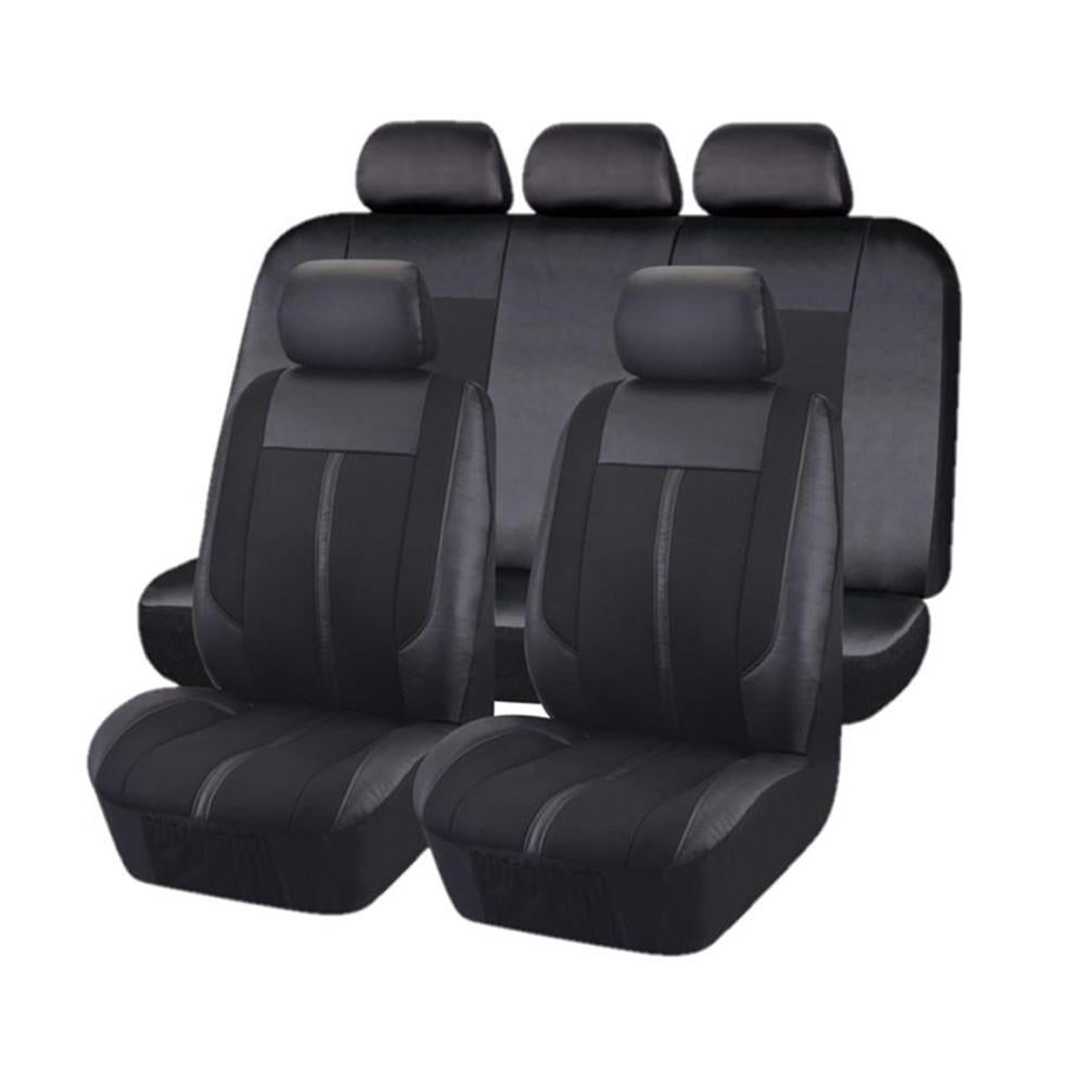 Universal Graphite Front/Rear Seat Covers Value Pack - Black