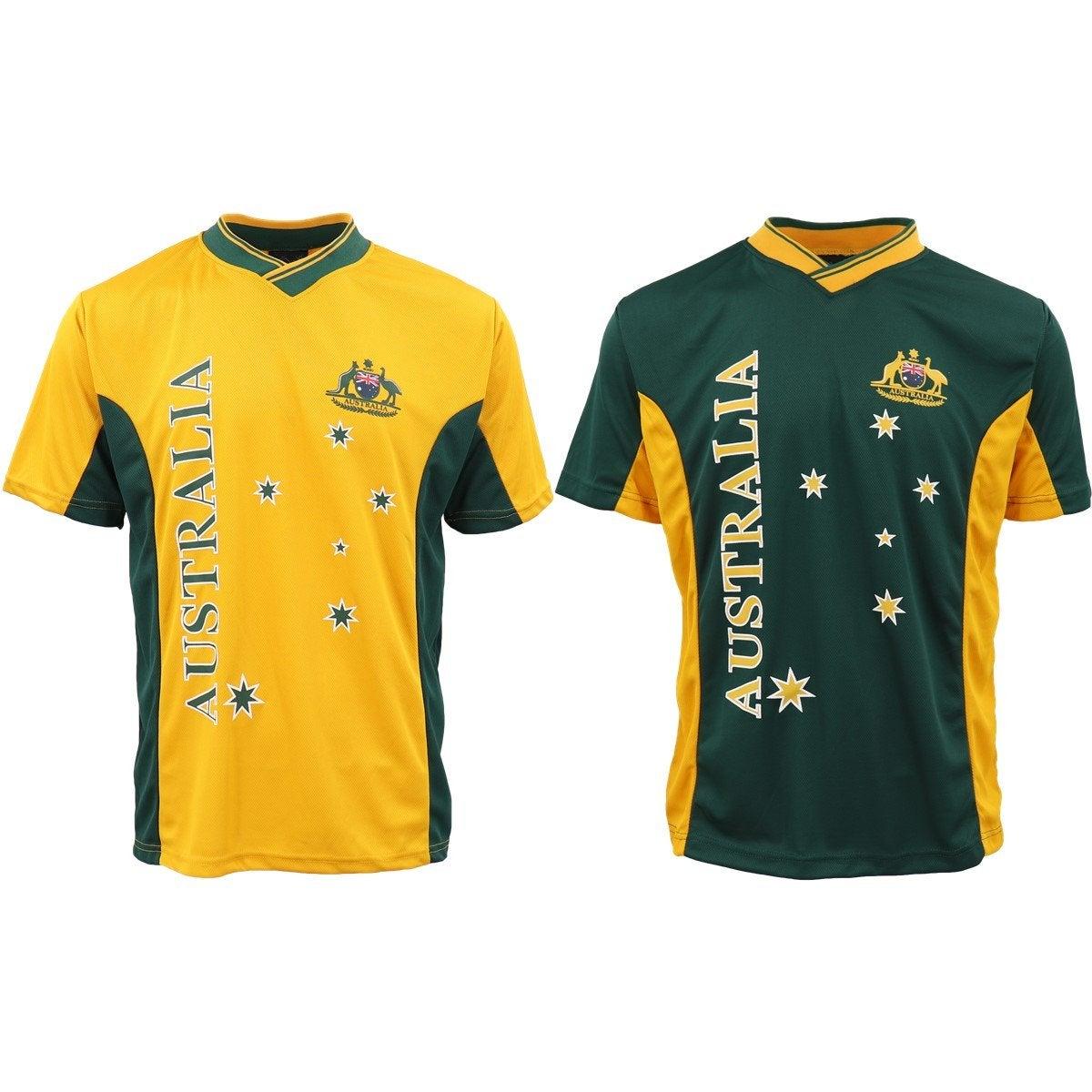 Adults Kids Men's Sports Soccer Rugby Jersy T Shirt Australia Day Polo Souvenir
