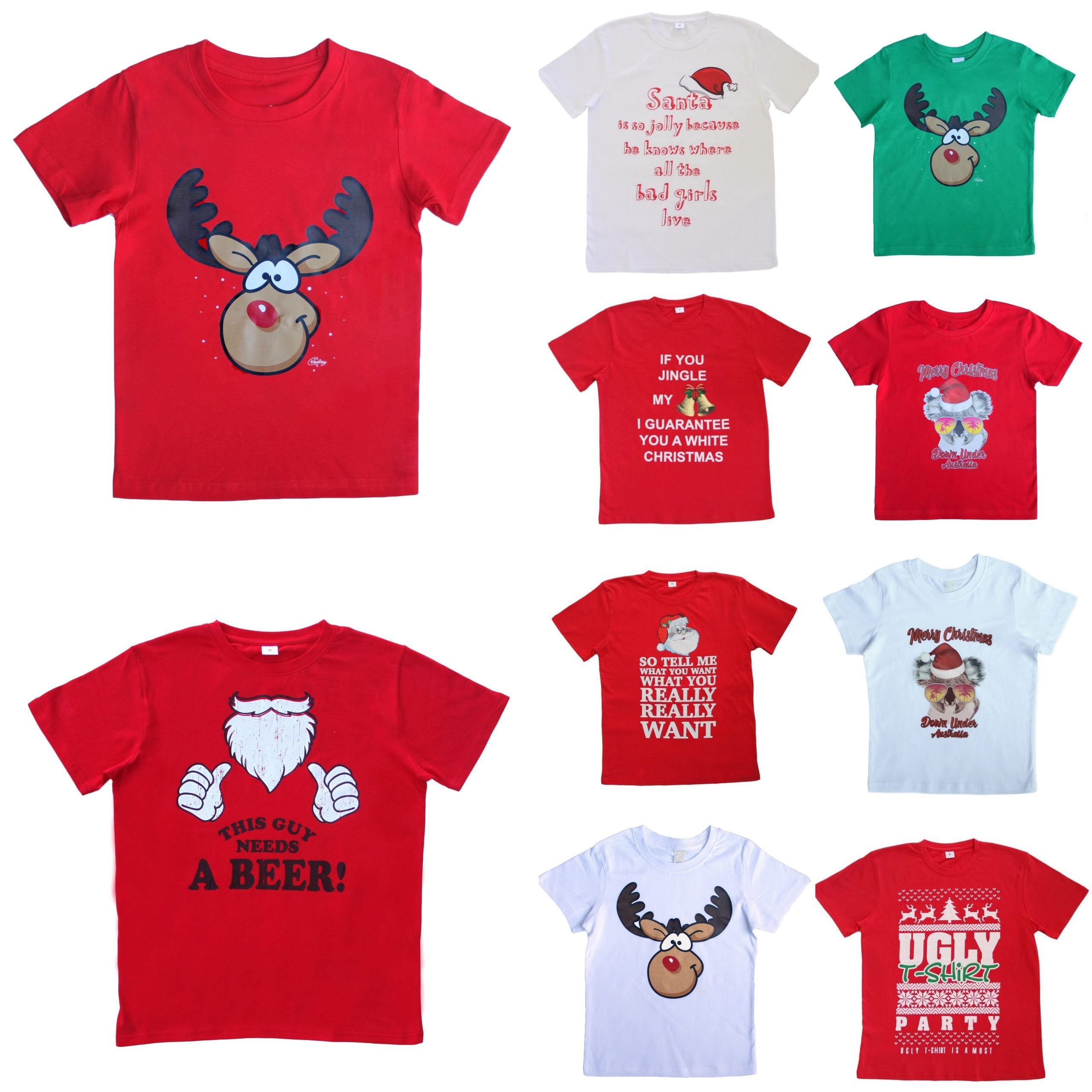 New Funny Adult Xmas Christmas T Shirt Tee Mens Womens 100% Cotton Jolly Ugly
