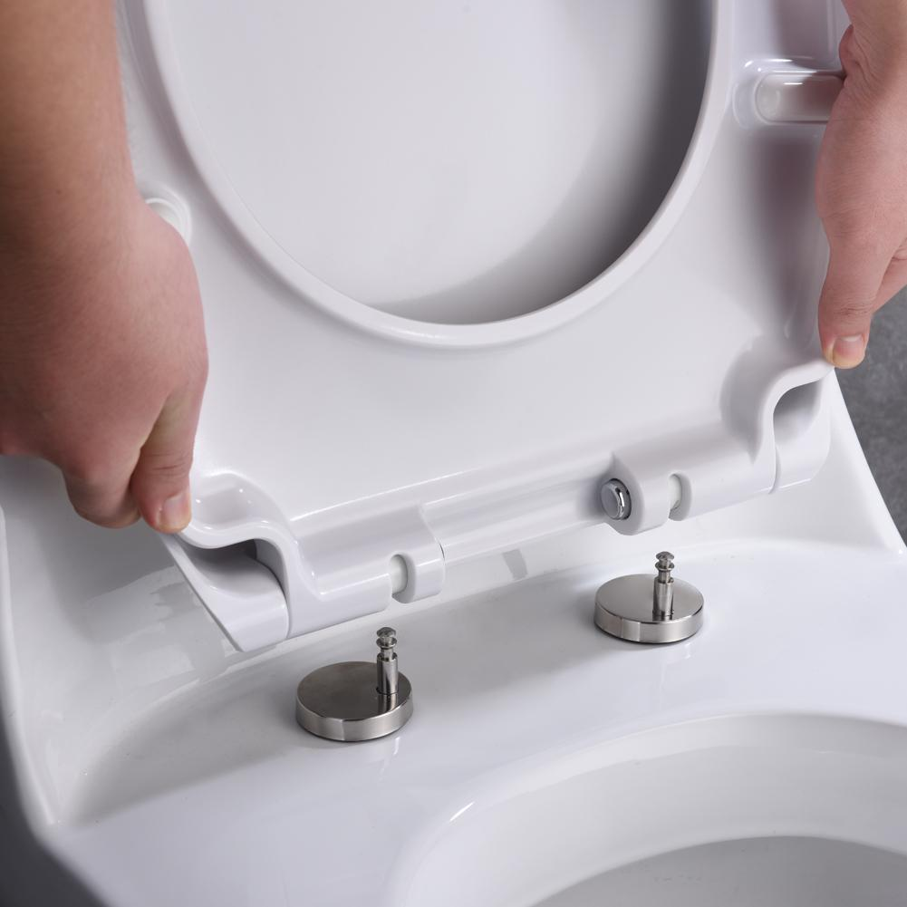 Deluxe Soft Close Quick Release Toilet Seat - Diamond (White/Oval Shaped)