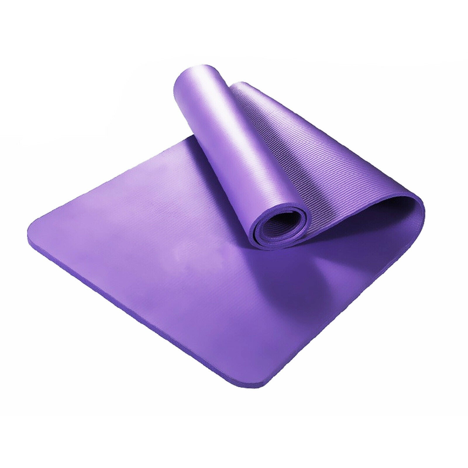 15MM NBR Thick Yoga Mat Pad Nonslip Exercise Fitness Home Gym - Purple