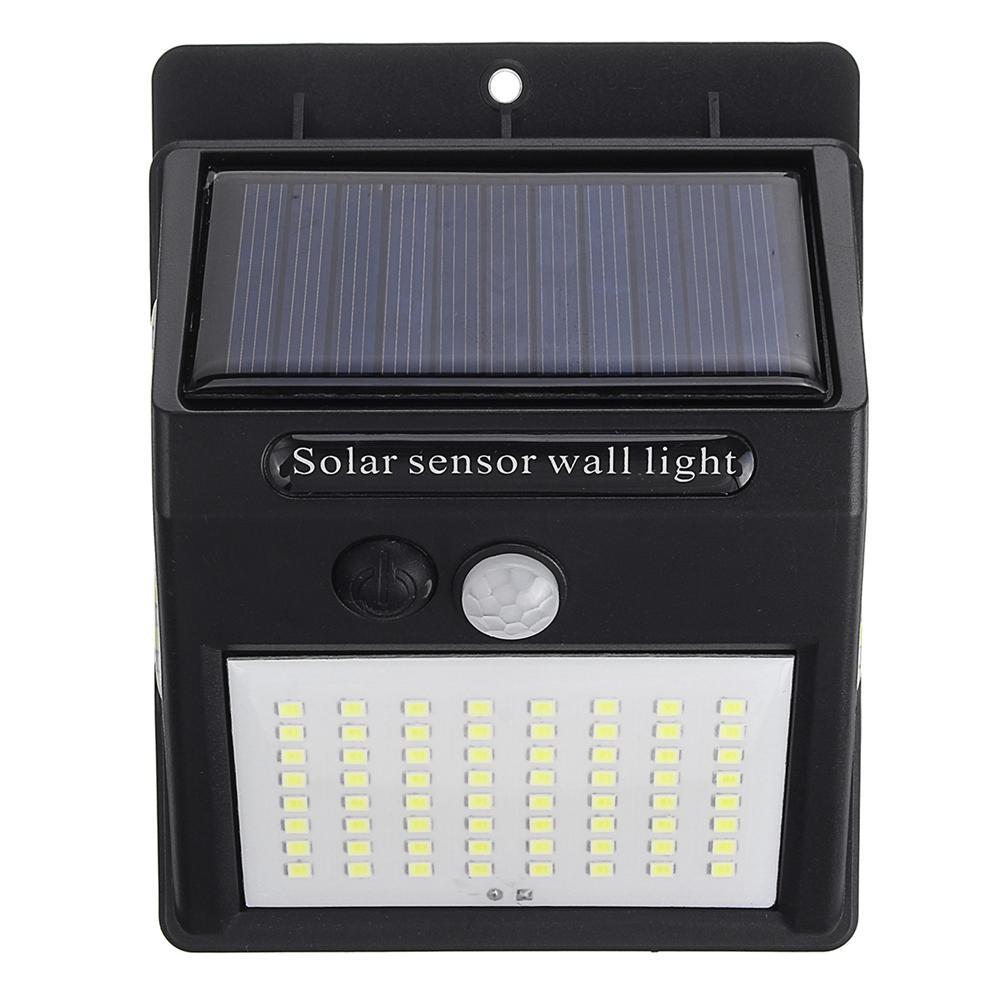100 LED Solar Power Wall Light PIR Motion Sensor Security Outdoor Gardern Lamp