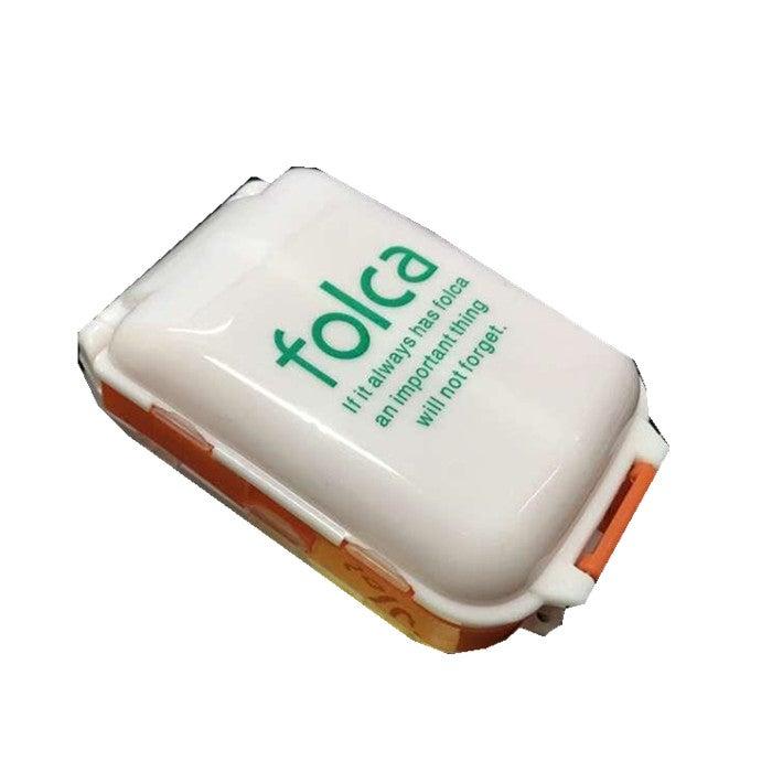 10PCS HN-PB011 Portable 8 Compartments Pill Case Foldable 3 Layers Pill Organizer Medicine Box ORANGEWHITE COLOR