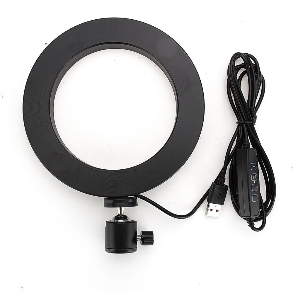 16CM Dimmable 3200-5500k Video Ring Light for Tik Tok Youtube Live Streaming