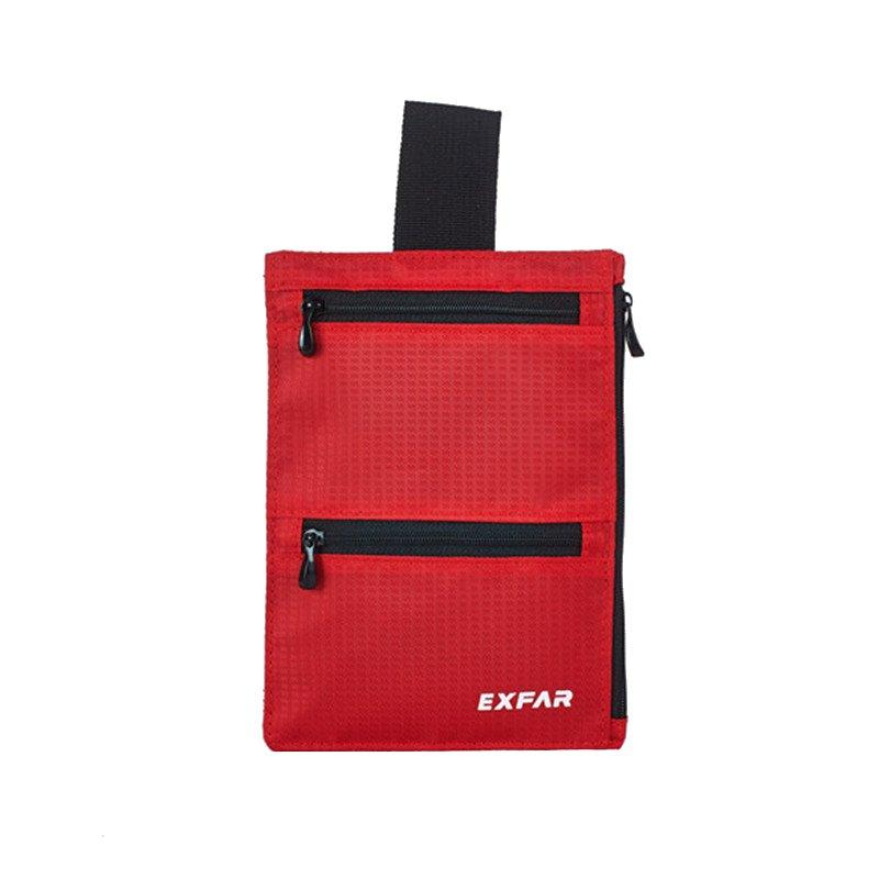 2PCS Outdoor Large Capacity Belt Bag Waist Bag for iPhone Xiaomi Mobile Phone RED COLOR