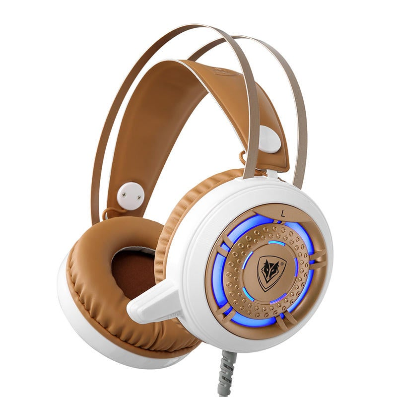 3.5mm + USB Wired Omnidirectional LED Backlight Headset USB Gaming Headphone for Computer Profession Gamer