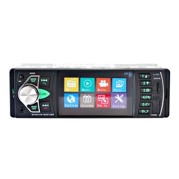 4.1 inch 1 Din Car Radio Auto Audio MP5 Player bluetooth Handsfree USB AUX Steering Wheel Control