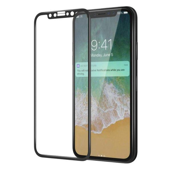 4D Soft Edge Carbon Fiber Tempered Glass Screen Protector Film For iPhone XS/iPhone X/iPhone 11 Pro