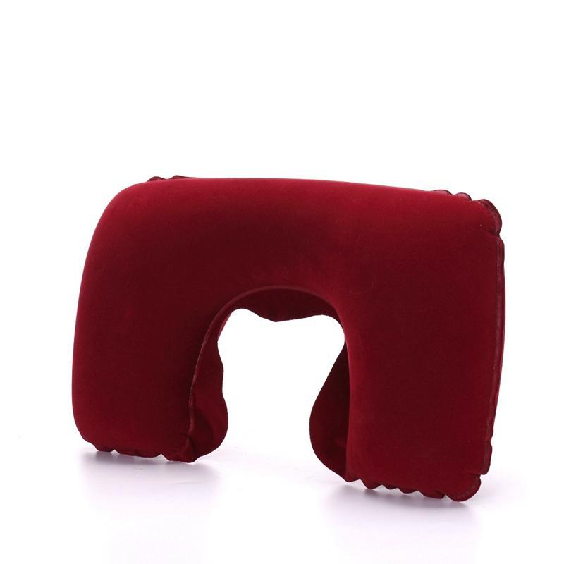 6Pcs U-Shape Neck Travel Pillow Folding Neck Air Cushion Inflatable Travel Pillows Portable Comfortable