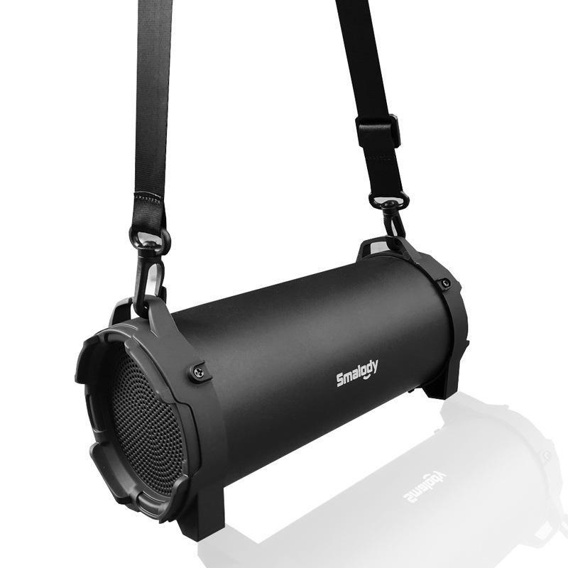 8W Powerful Wireless bluetooth Speaker 1200mAh TF Card U Disk Outdoors Speaker BLACK COLOR