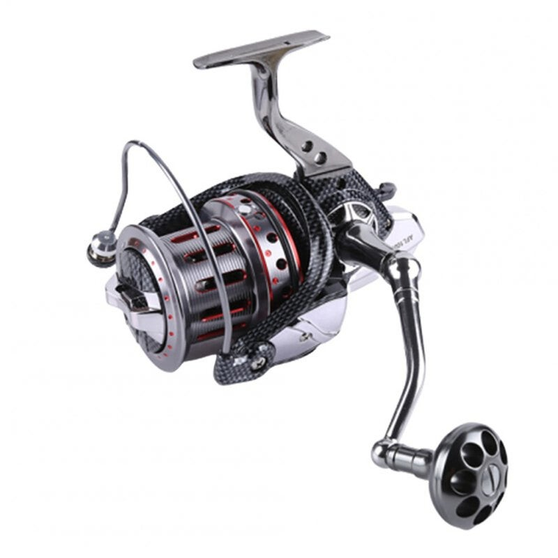 All-metal Large Fishing Reel Stainless Steel Bearings Spinning Wheel Reel Bait Casting Reel Boat Sea Fishing Wheel 11000