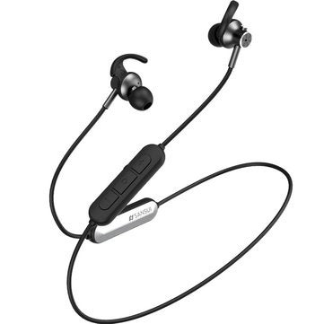 bluetooth 5.0 Earphone Wireless Neckband 8D Surround Noise Cancelling Magnetic Bass Sports Headphone with Mic for iPhone Xiaomi Huawei BLACK COLOR