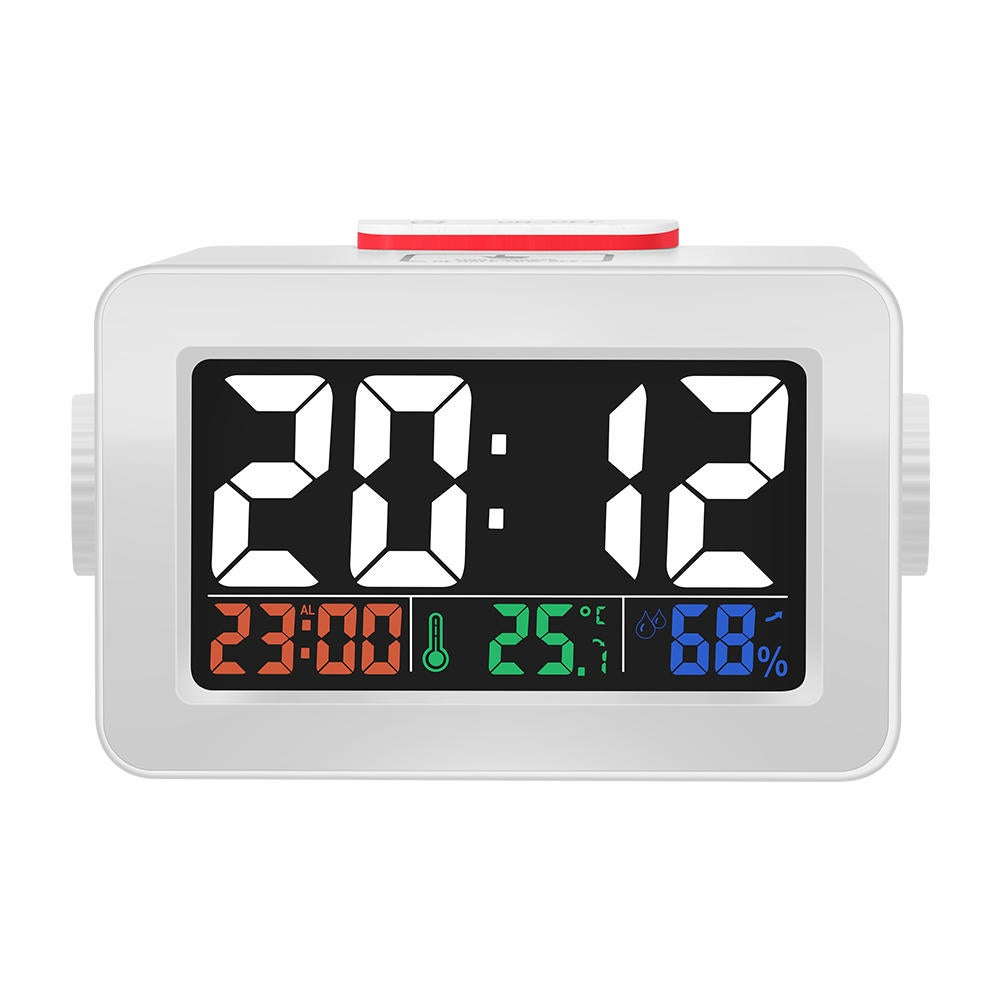 DG-C1R Brother Double Knob Simplified Alarm Clock Touch Adjust Backlight with Temperature Humidity Display