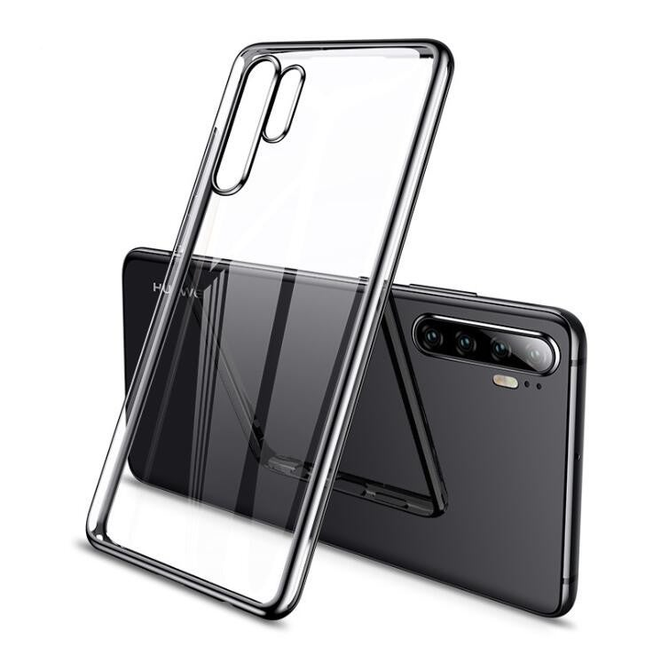For Huawei P30 Pro CAFELE Plating Shockproof Transparent Ultra Thin Soft TPU Protective Case SILVER COLOR