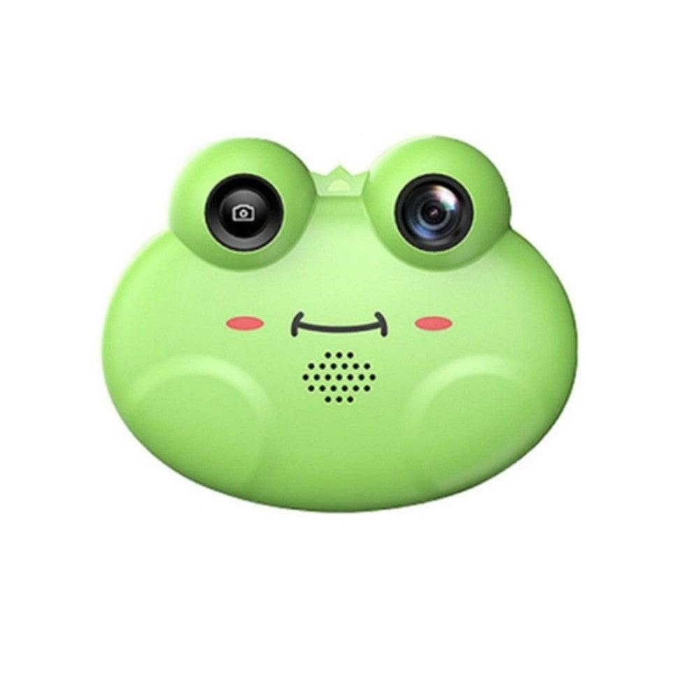 Frog Mini Children Digital HD Camera Single Lens SLR Toy Camera(Green)