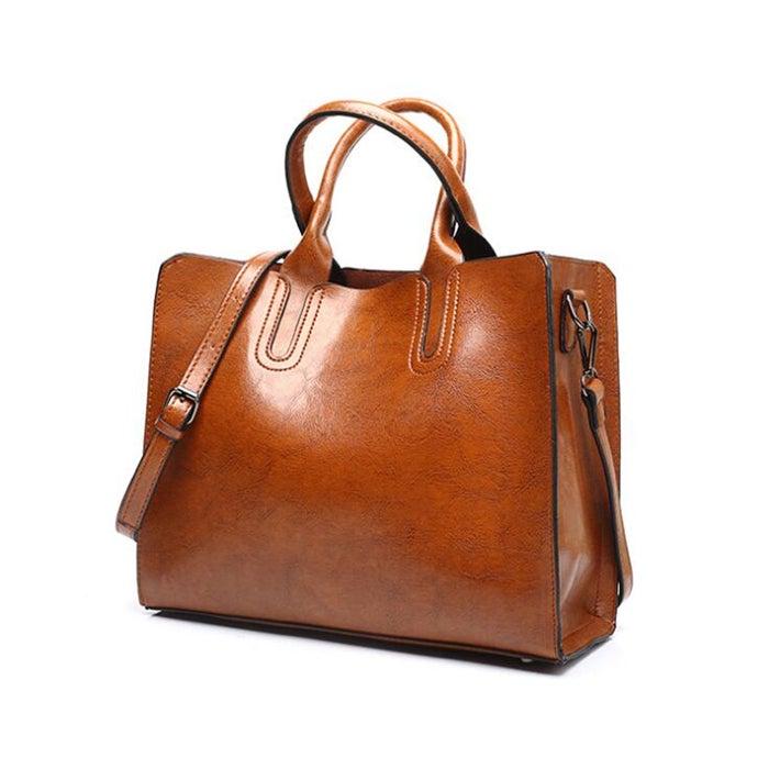 Leather Handbags Big Women Bag Casual Female Bags Trunk Tote Shoulder Bag