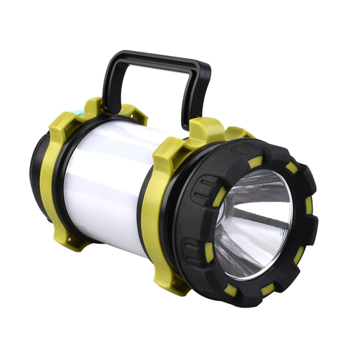 LED Flashlight Camping Light Torch Lantern USB Rechargeable USB Charger Worklight Waterproof GREEN COLOR