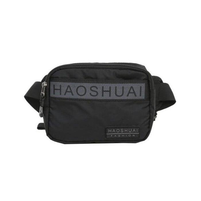 Men Nylon Multi-function Chest Bag Solid Casual Waist Bag Travel Crossbody Bag For Men