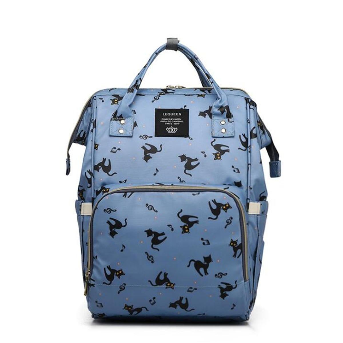 Mummy Backpack Multi-function Large-capacity Bag Expectant Travel Outdoor Maternal and Child Package BLUE COLOR