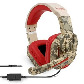 r005 3.5mm Wired Control Gaming Headset Stereo High Sensitive Noise Reduction Game Headphone with Mic