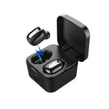 RD-11 Dual Wireless bluetooth 5.0 Headset Hi-Fi Stereo TWS Music IPX7 Waterproof Binaural Call Earphone Headphone BALCK COLOR