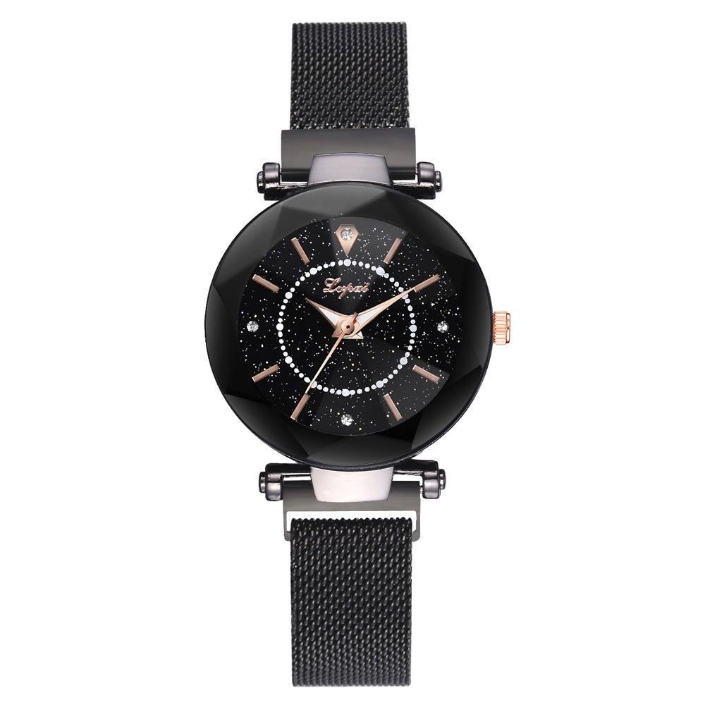 Shining Unique Design Women Wrist Watch Steel Quartz Watch