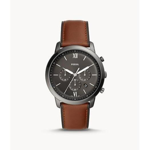 Fossi Neutra Chronograph Amber Leather Watch