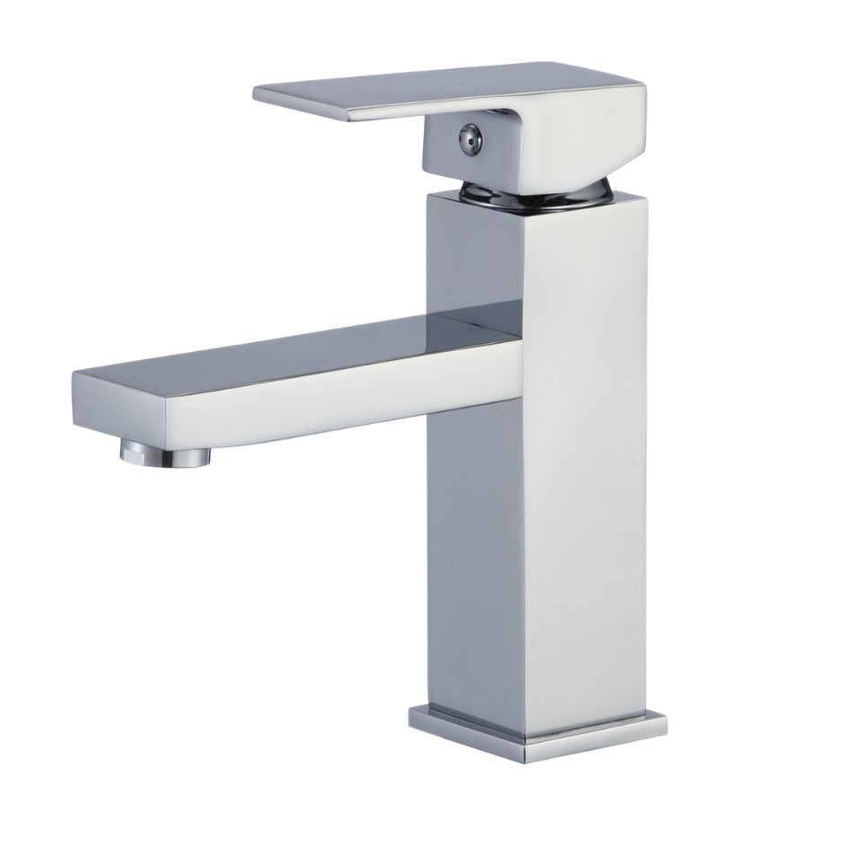 Bathroom Square Basin Mixer Tap Kitchen Sink Faucet Water Taps Bath Laundry WELS