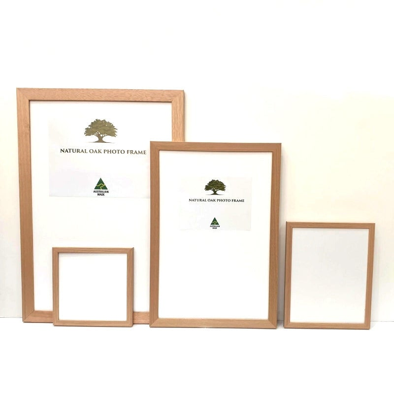 Oak Photo frame, Oak picture frame, AO, A1, A2, A3, A4 size, 4 styles of frame