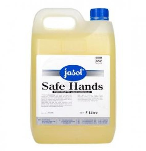 Jasol Safe Hands Premium Hand Cleaner With Built In Sanitiser - Yellow 5 Litre