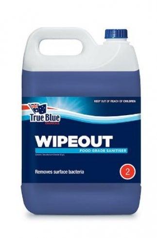 True Blue Wipeout Food Grade Sanitiser - Blue Liquid Single (1 X 5L)