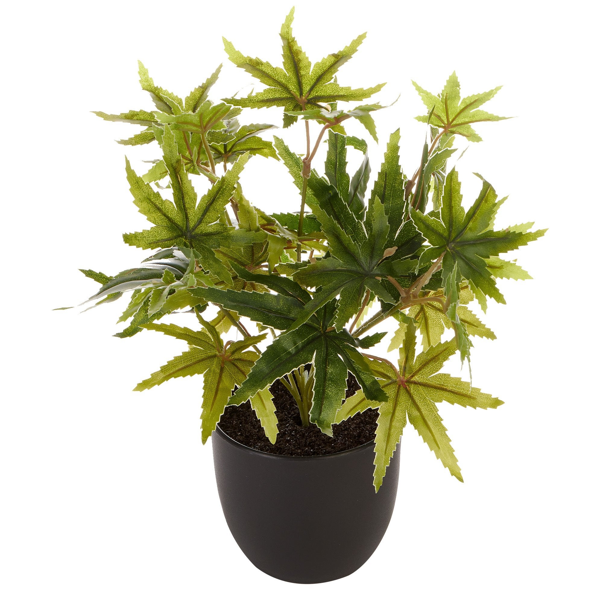 24Cm Tall Potted Artificial Maple Decor Fake Plant Indoor